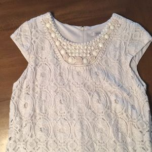 Dresses & Skirts - 🌞 3 for $10 🌞 Cream White Lace Dress Beaded